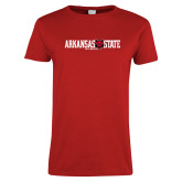 Ladies Red T Shirt-Arkansas State Red Wolves