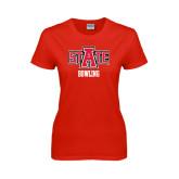 Ladies Red T Shirt-Bowling