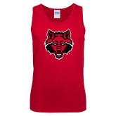 Red Tank Top-Red Wolf Head