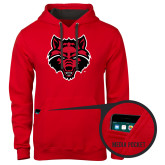 Contemporary Sofspun Red Hoodie-Red Wolf Head