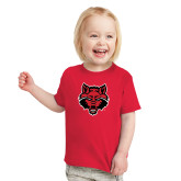 Toddler Red T Shirt-Red Wolf Head