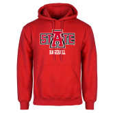 Red Fleece Hood-Baseball