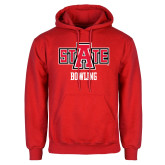 Red Fleece Hood-Bowling