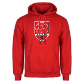 Red Fleece Hood-Soccer Shield