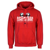Red Fleece Hoodie-Camellia Bowl Helmets Design
