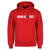 Red Fleece Hoodie-Arkansas State Red Wolves