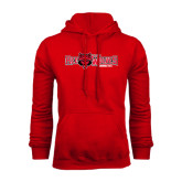Red Fleece Hood-Red Wolves w/Red Wolf Head Centered