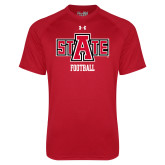 Under Armour Red Tech Tee-Football