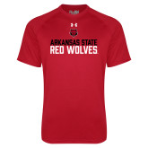 Under Armour Red Tech Tee-Arkansas State Red Wolves Stacked Block