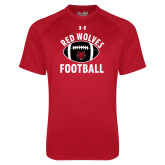 Under Armour Red Tech Tee-Football Distressed Ball