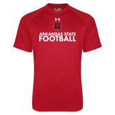 Under Armour Red Tech Tee-Football Stacked Text