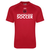 Under Armour Red Tech Tee-Soccer Stacked Text