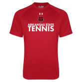 Under Armour Red Tech Tee-Tennis Stacked Text