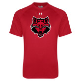 Under Armour Red Tech Tee-Red Wolf Head