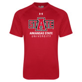 Under Armour Red Tech Tee-University Mark