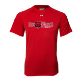 Under Armour Red Tech Tee-Red Wolves w/Red Wolf Head Centered