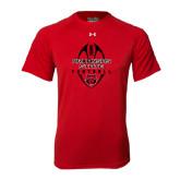 Under Armour Red Tech Tee-Tall Football Design