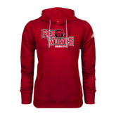 Adidas Climawarm Red Team Issue Hoodie-Red Wolves Stacked Head Centered