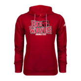 Adidas Climawarm Red Team Issue Hoodie-Red Wolves Stacked Head on Right