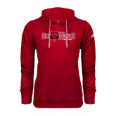Adidas Climawarm Red Team Issue Hoodie-Red Wolves w/Red Wolf Head Centered