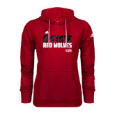 Adidas Climawarm Red Team Issue Hoodie-A-State Adidas Logo