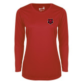 Ladies Syntrel Performance Red Longsleeve Shirt-Red Wolf Head