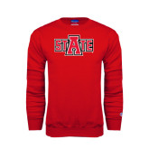Red Fleece Crew-A State