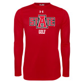 Under Armour Red Long Sleeve Tech Tee-Golf