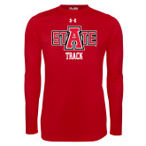 Under Armour Red Long Sleeve Tech Tee-Track
