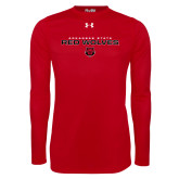 Under Armour Red Long Sleeve Tech Tee-Arkansas State Red Wolves Block