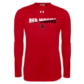 Under Armour Red Long Sleeve Tech Tee-Red Wolves Two Tone