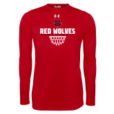 Under Armour Red Long Sleeve Tech Tee-Basketball Sharp Net