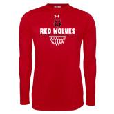 Under Armour Red Long Sleeve Tech Tee-Basketball Sharp Net