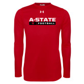 Under Armour Red Long Sleeve Tech Tee-Football Bar