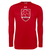 Under Armour Red Long Sleeve Tech Tee-Soccer Shield