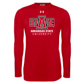 Under Armour Red Long Sleeve Tech Tee-University Mark