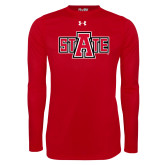 Under Armour Red Long Sleeve Tech Tee-A State