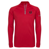 Under Armour Red Tech 1/4 Zip Performance Shirt-Red Wolf Head