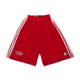 Adidas Climalite Red Practice Short-Red Wolf Head w/A State