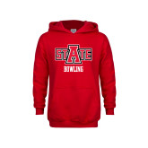 Youth Red Fleece Hoodie-Bowling