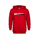 Youth Red Fleece Hoodie-Red Wolves Two Tone