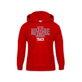 Youth Red Fleece Hood-Track