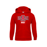 Youth Red Fleece Hood-Rugby
