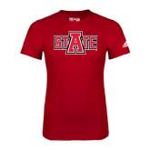 Adidas Red Logo T Shirt-A State