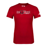 Adidas Red Logo T Shirt-Red Wolves w/Red Wolf Head Centered