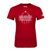 Adidas Red Logo T Shirt-Red Wolves Football Adidas
