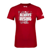 Adidas Red Logo T Shirt-Always Rising Adidas Logo