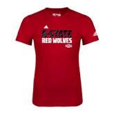 Adidas Red Logo T Shirt-A-State Adidas Logo