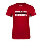 Adidas Red Logo T Shirt-Football Adidas Logo