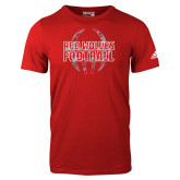 Adidas Red Logo T Shirt-Red Wolves Football Adidas